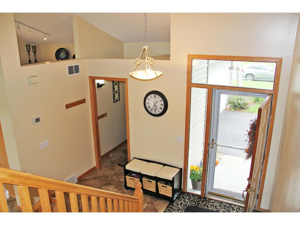 Mud room area off the garage entrance and spacious front entry is open and inviting!