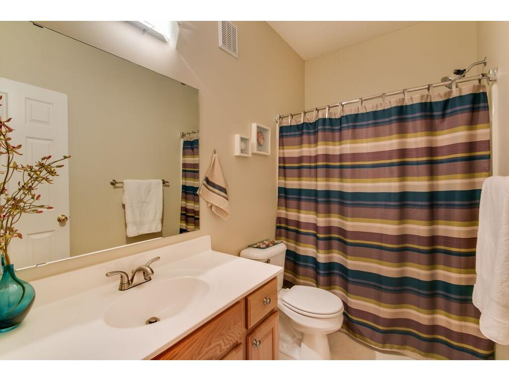 Main level bath, perfect for the kids or guests!