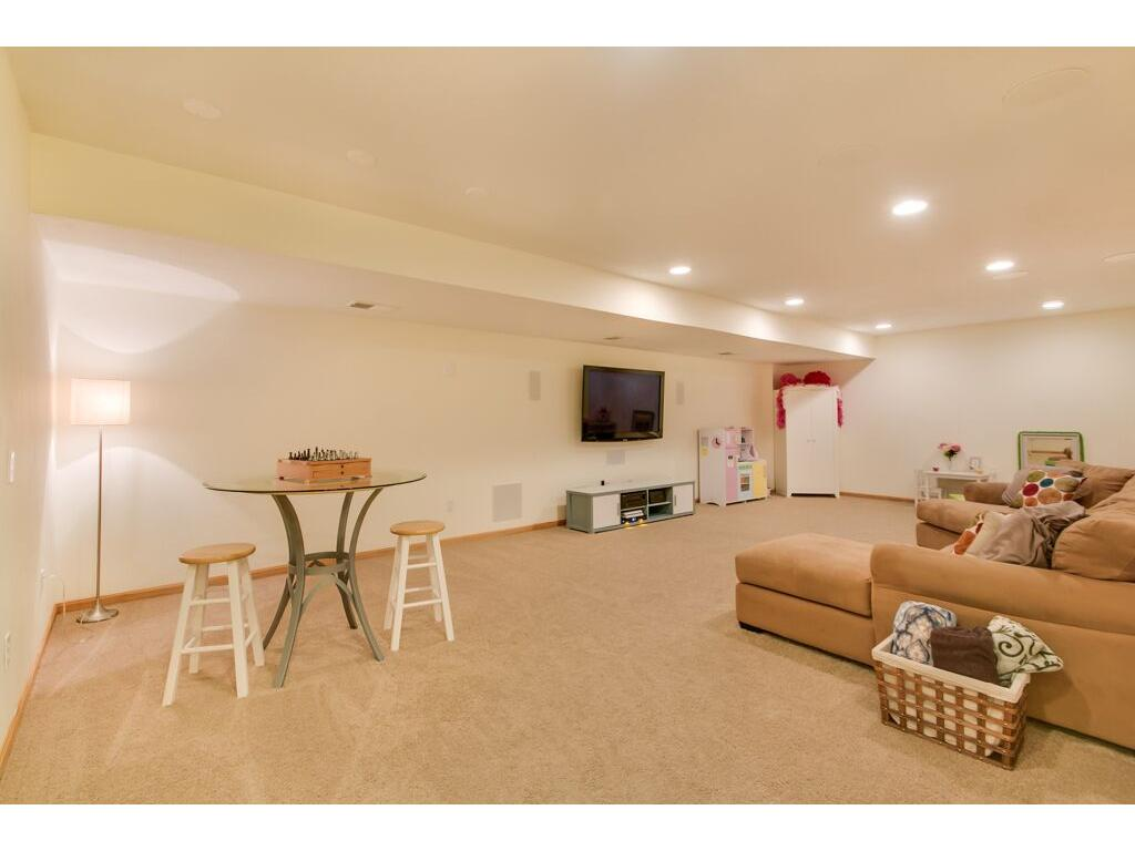 Incredible lower level living or play space!
