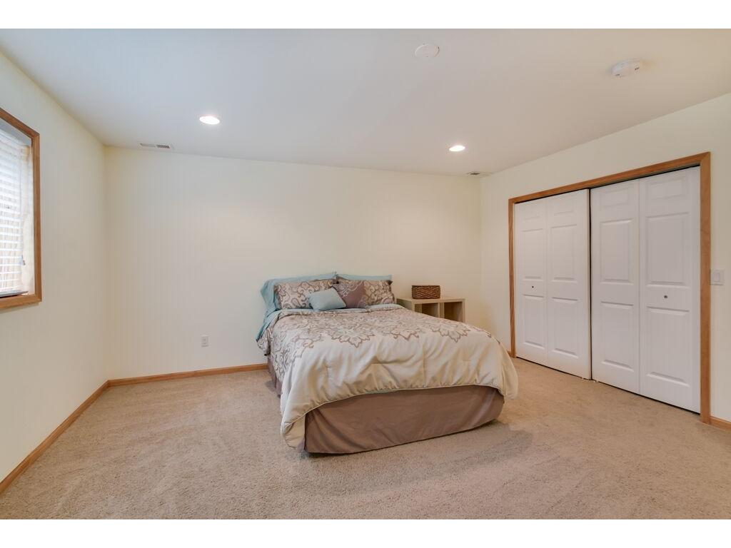 Spacious lower level bedroom with a great closet!