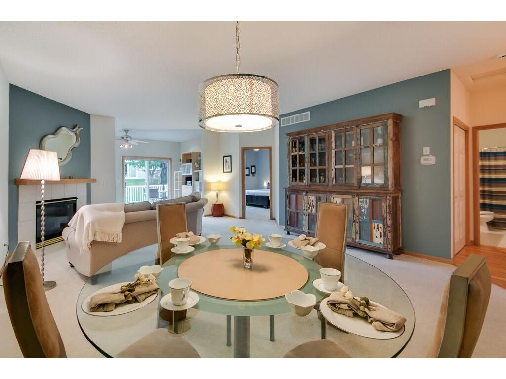 Marvelous open dining and living space!