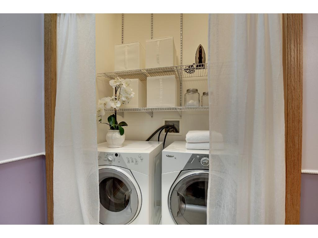 Laundry on the main floor.  No more hauling laundry up and down the stairs!