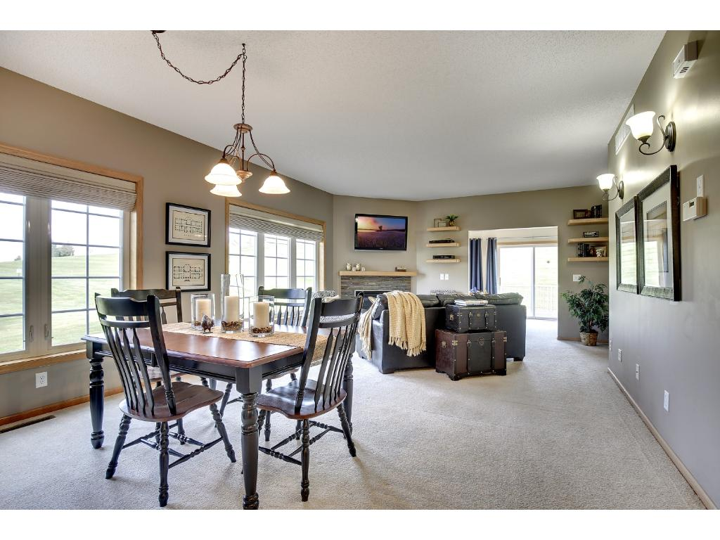Dining room is open to the living room.  Great for entertaining!