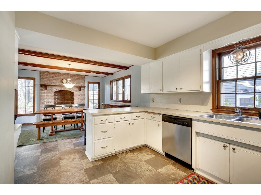 The Kitchen And Hearth Room Are A Great Space