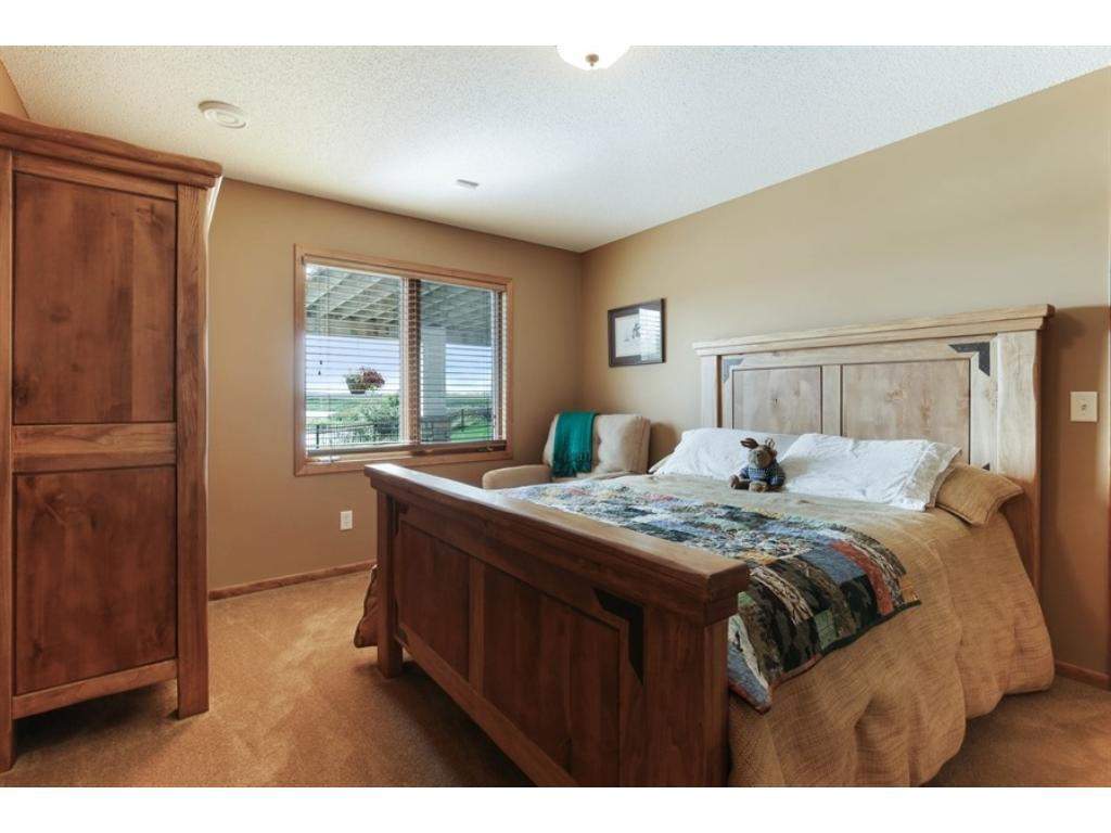 This large 6th bedroom is in the lower level and also has its own walk-in closet.