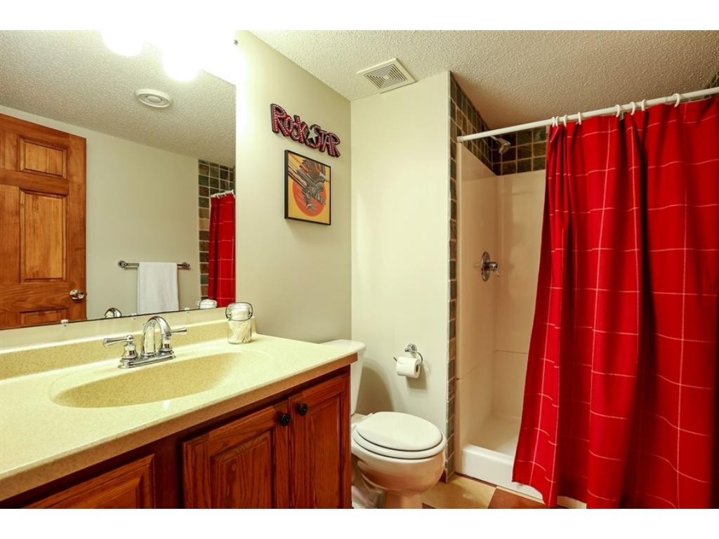 3/4 bath in the lower level.