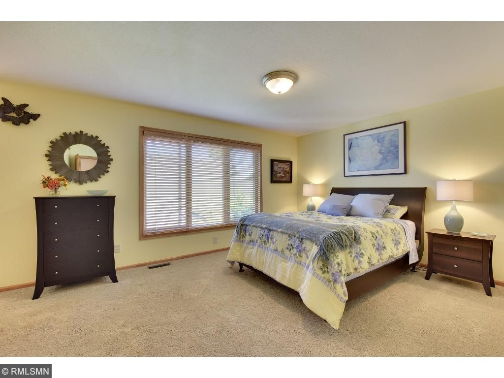 Oversized bedroom is located on the second floor right across from the loft area.