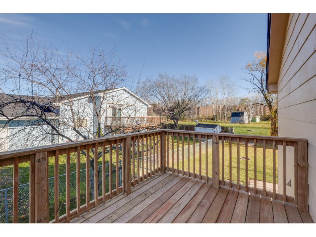 New deck! Enjoy the privacy! Perfect place to have your morning cup of coffee or entertain guests!