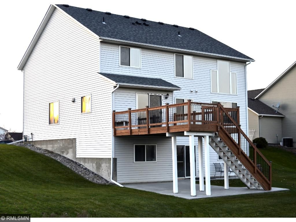 Large deck and walkout patio.