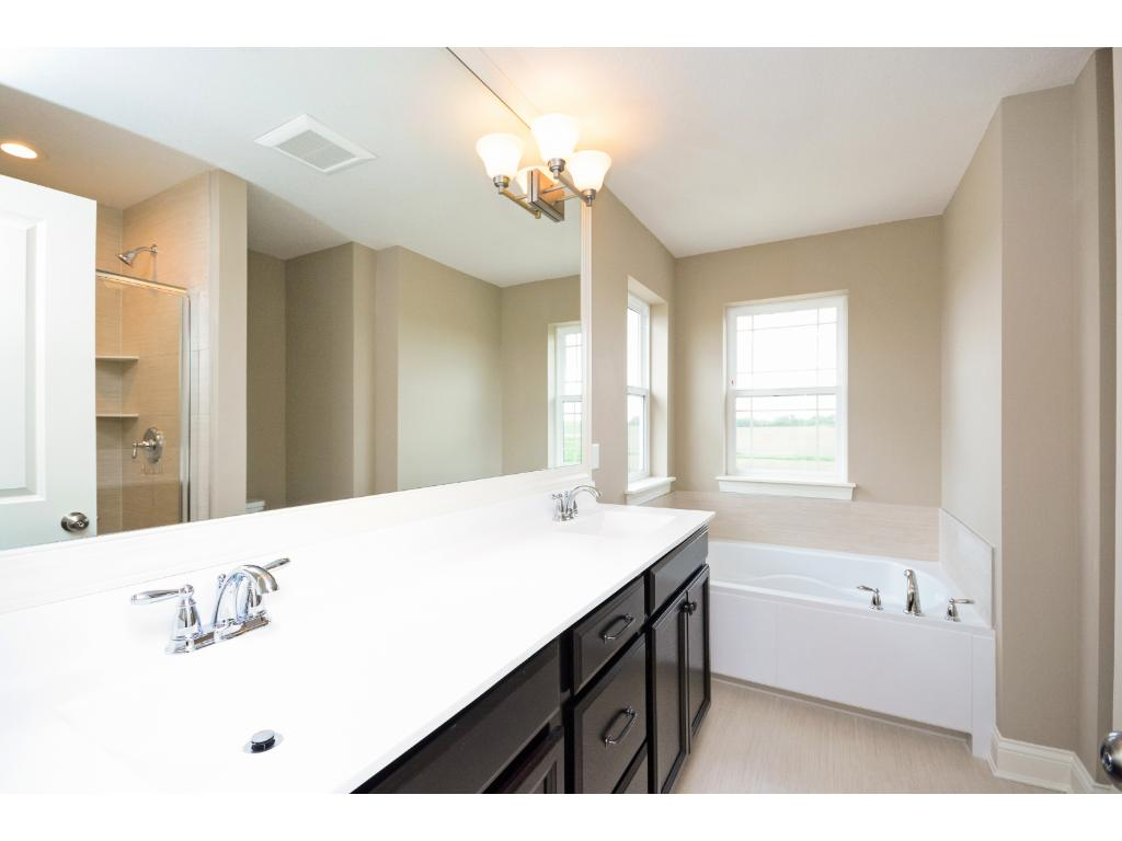Ensuite with soaking tub and walk-in shower