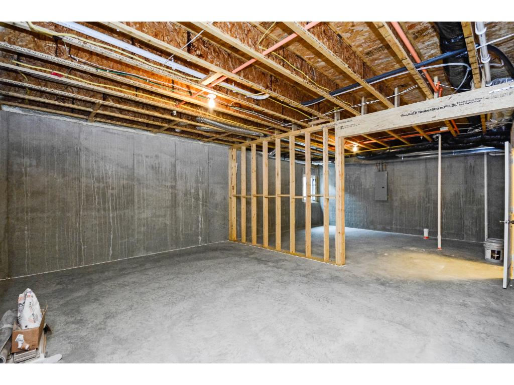 Additional unfinished basement with 9ft poured foundation wall!  Definitely room to grow.