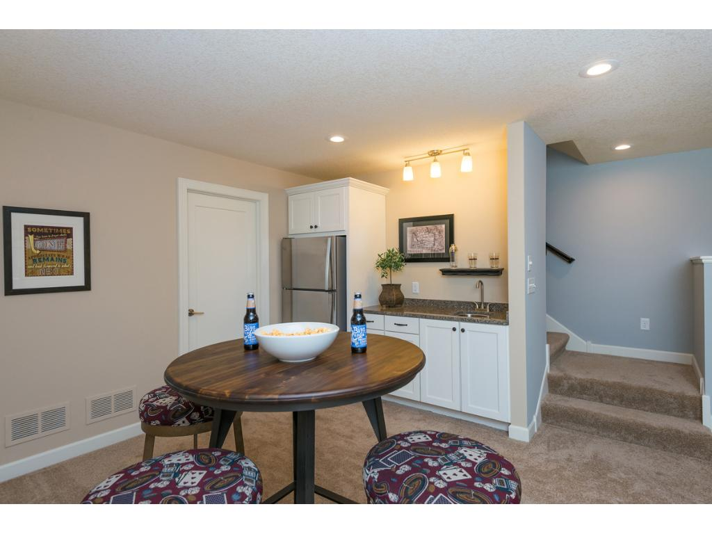 Lower Level Game Area with Wet Bar