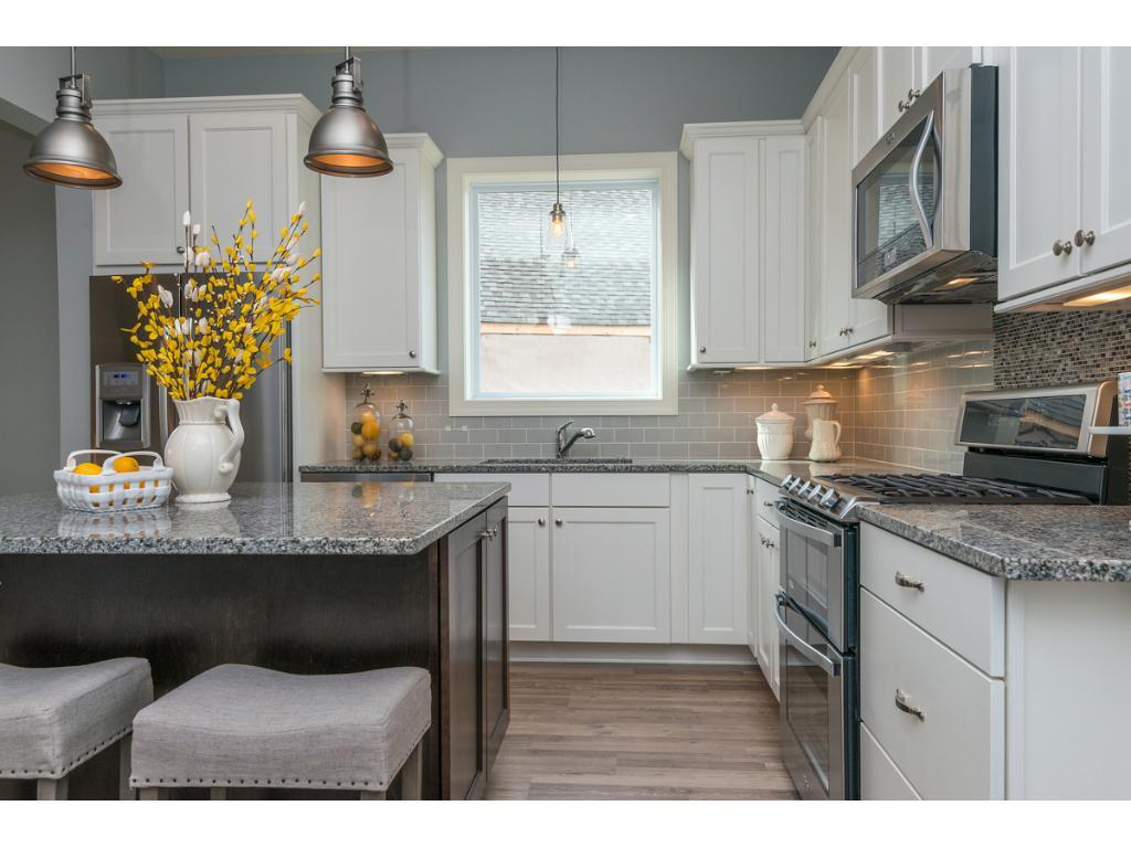 Kitchen Window provides abundance of natural light.
