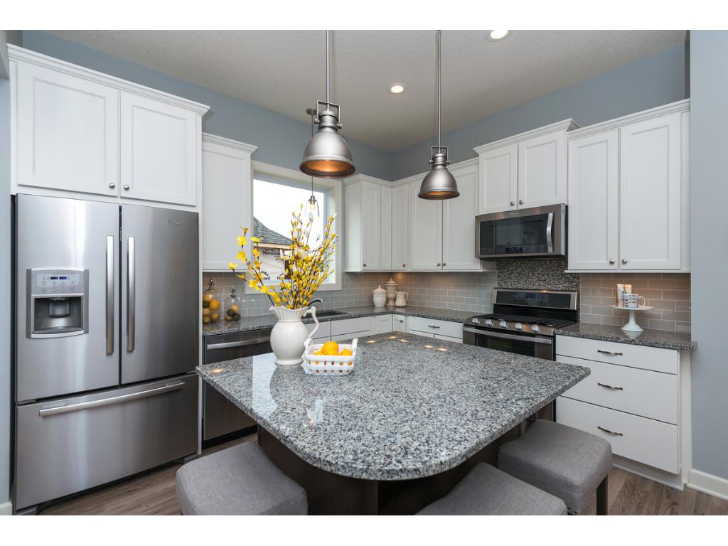L-Shaped Kitchen with Center Island