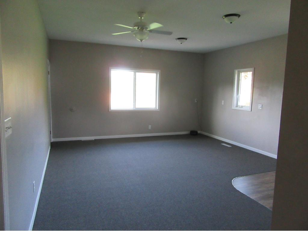 All the room are big with lots of area to move around in.  You not feel cramped for space in this home..