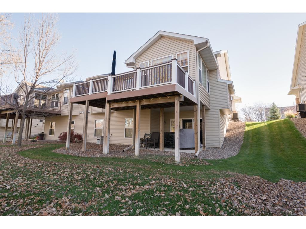 View of the back of the home. Easy access to Hwy I-35 & close to shopping, restaurants & entertainment. Attached 2-car garage.