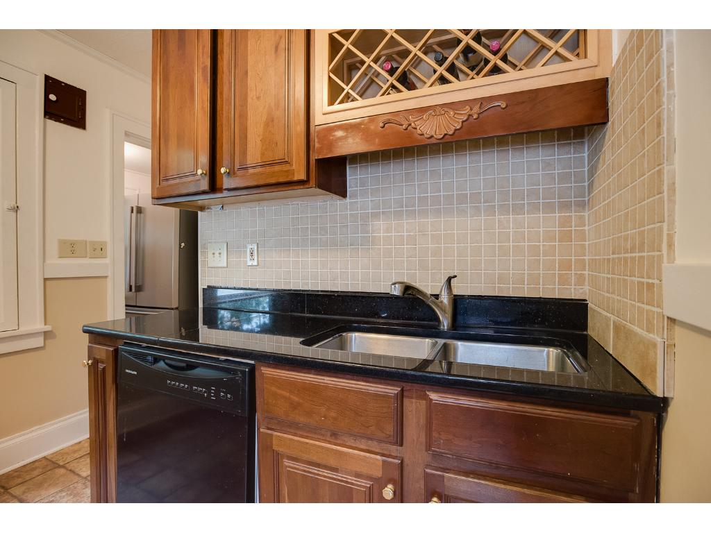 Stone countertops and dishwasher!