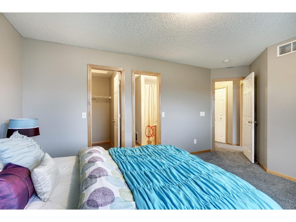 Large master with walk-in closet.