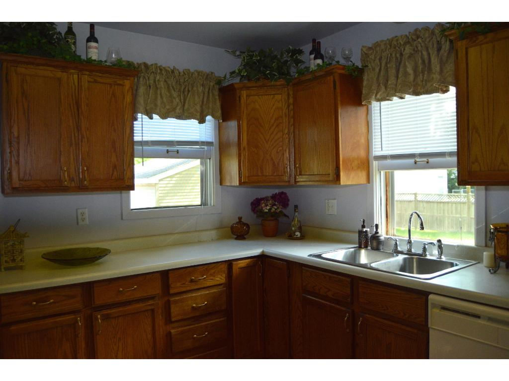 Kitchen with two windows for natural light