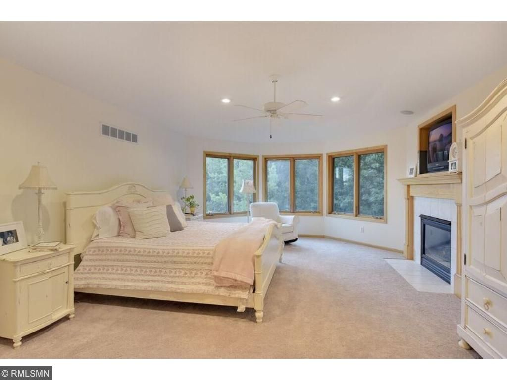 Exquisite master suite with gas fireplace!
