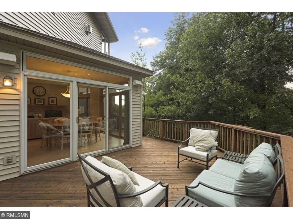 Spacious and comfortable deck is completely private. Check out that wall of windows!