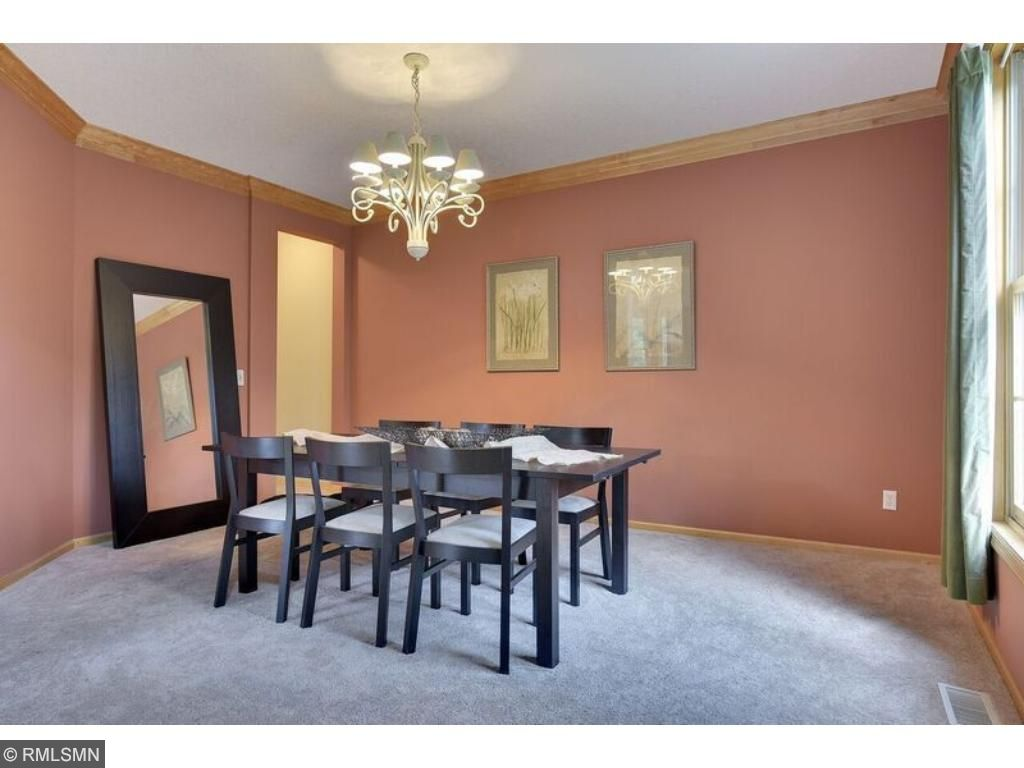 Plenty of room for all your dinner guests in this elegant formal dining space.