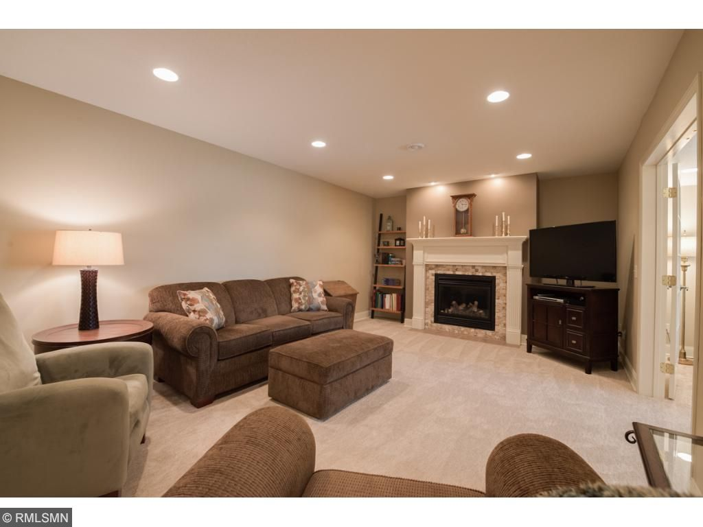 Our lower level is finished to perfection! The family room features a fantastic gas fireplace and recessed lighting.