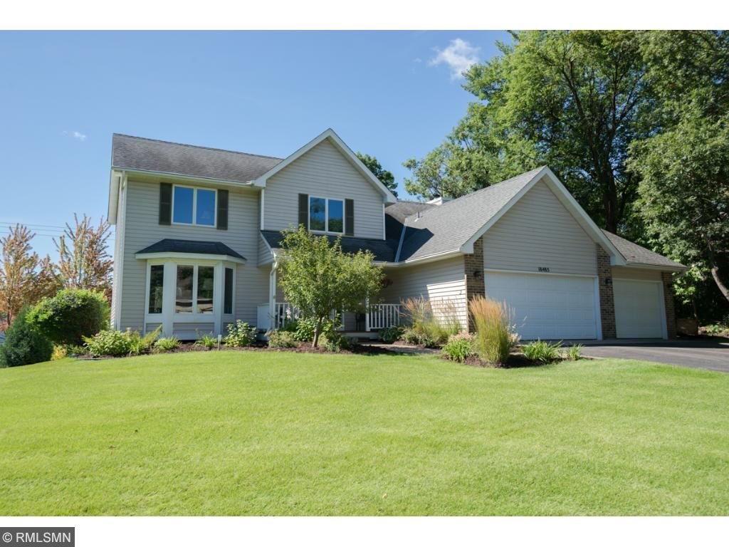 Classic 2-story, one-owner home located in Lakeville's Woodridge Estates. Paver front walkway, bone dry basement, new gutters in 2004, new furnace 2008. Backyard professionally landscaped in 2015. Vinyl siding and Andersen windows in 2000.