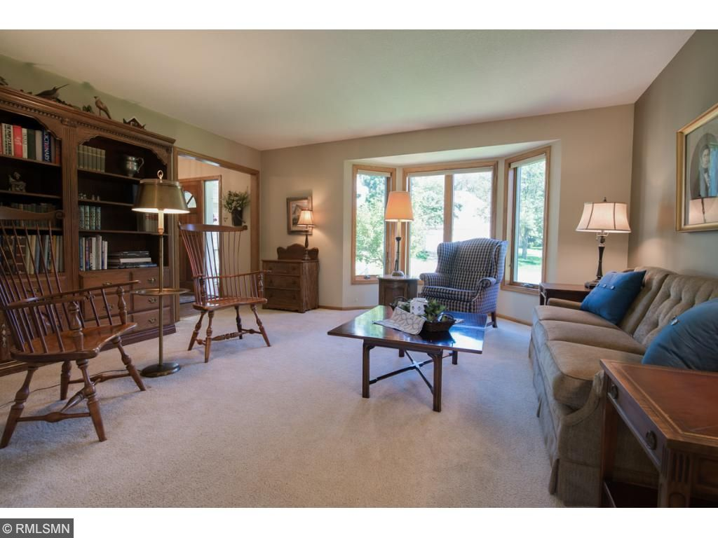 Great floor plan with the formal living room in front, big bay window that lets in lots of natural light.  Perfect spot for greeting and meeting guests.