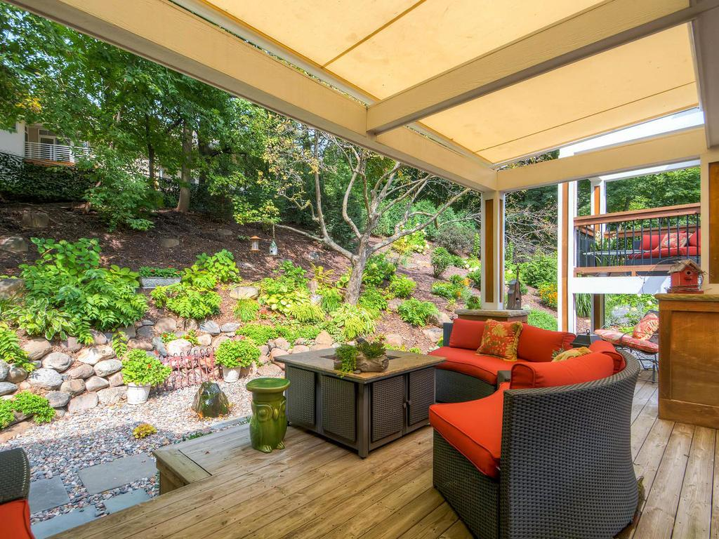 Amazing outdoor area with retractable awning.  Feel the tranquility and serenity