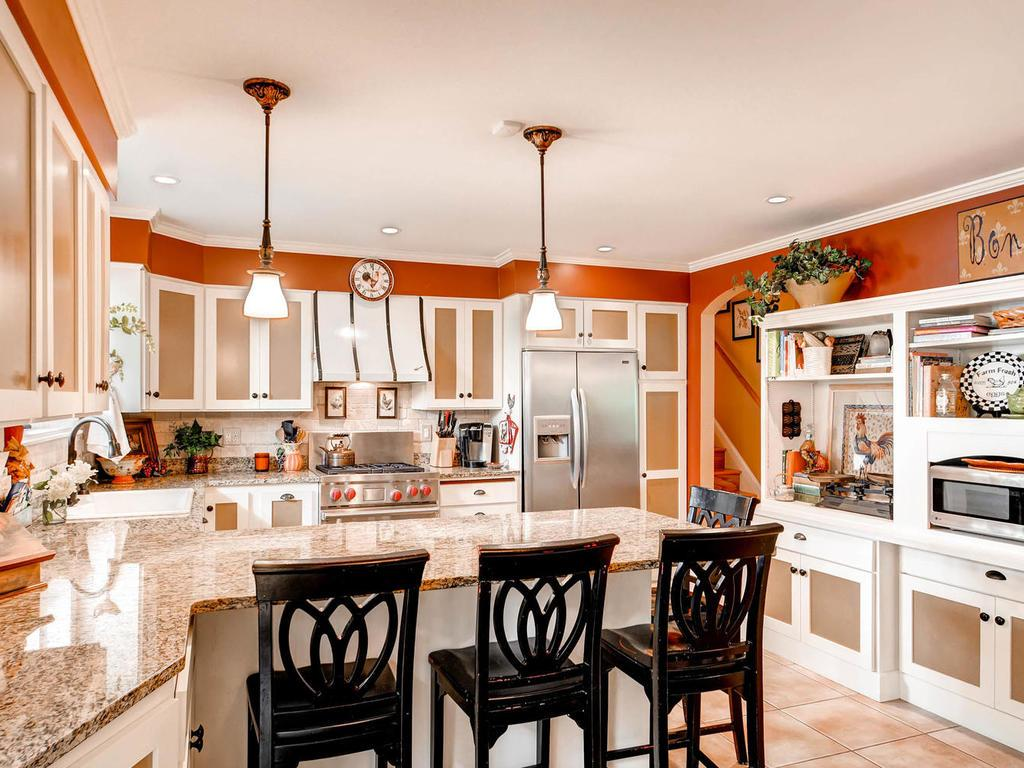 Sit at the breakfast bar for your meal or just watch the cook prepare the feast!