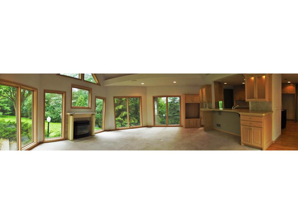 Panoramic view of great room!