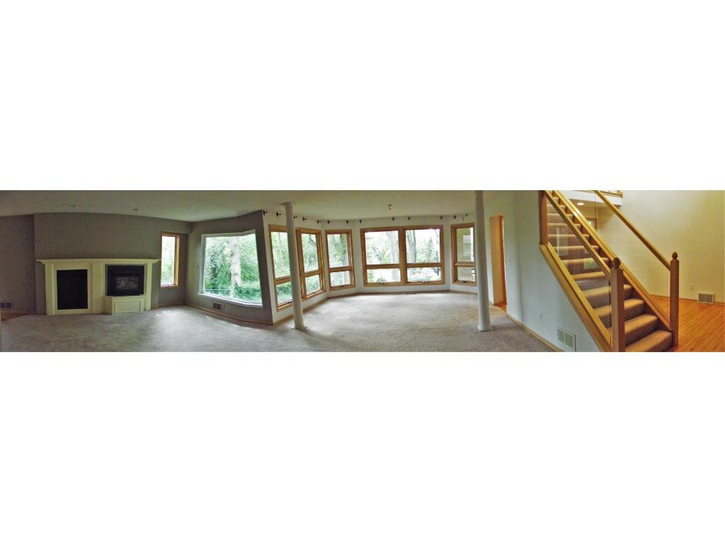 Panoramic view of formal dining and living room!