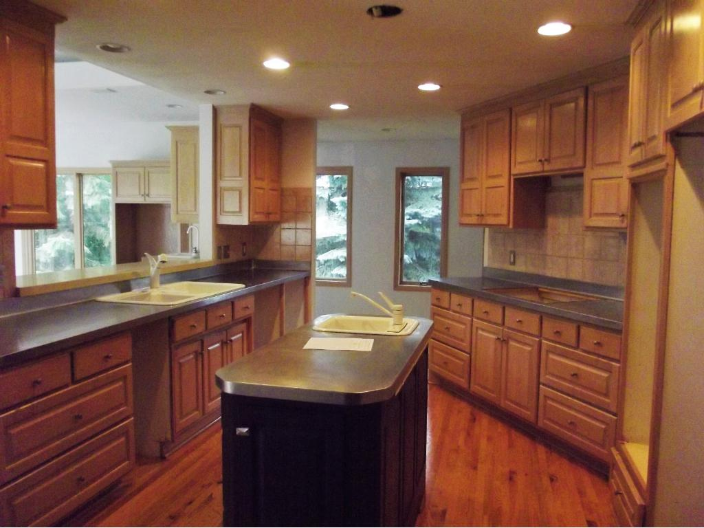 Kitchen appliances have been removed. This is an area buyers may want to consider for an update.