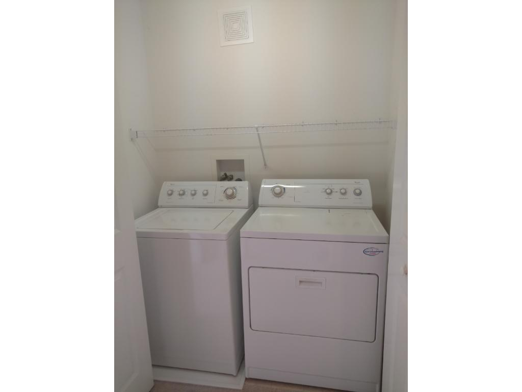 Upper level laundry closet next to the bedrooms and loft.  Washer and dryer stays.