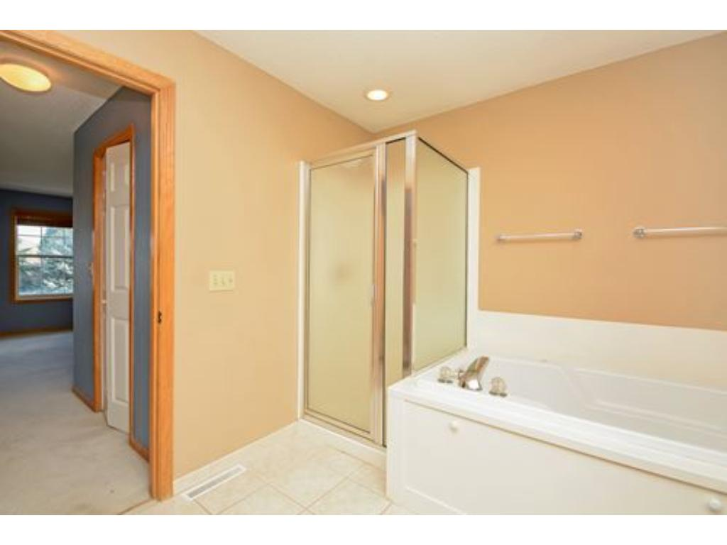 Separate tub and shower.