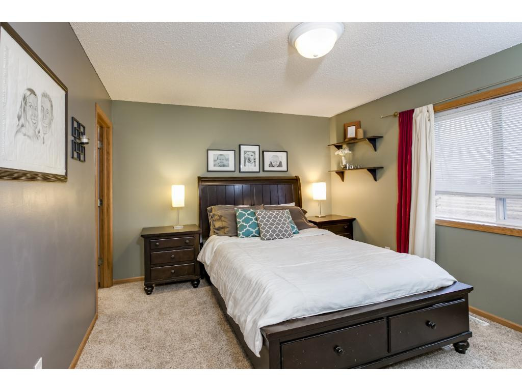 The master bedroom has a large walk-in closet.