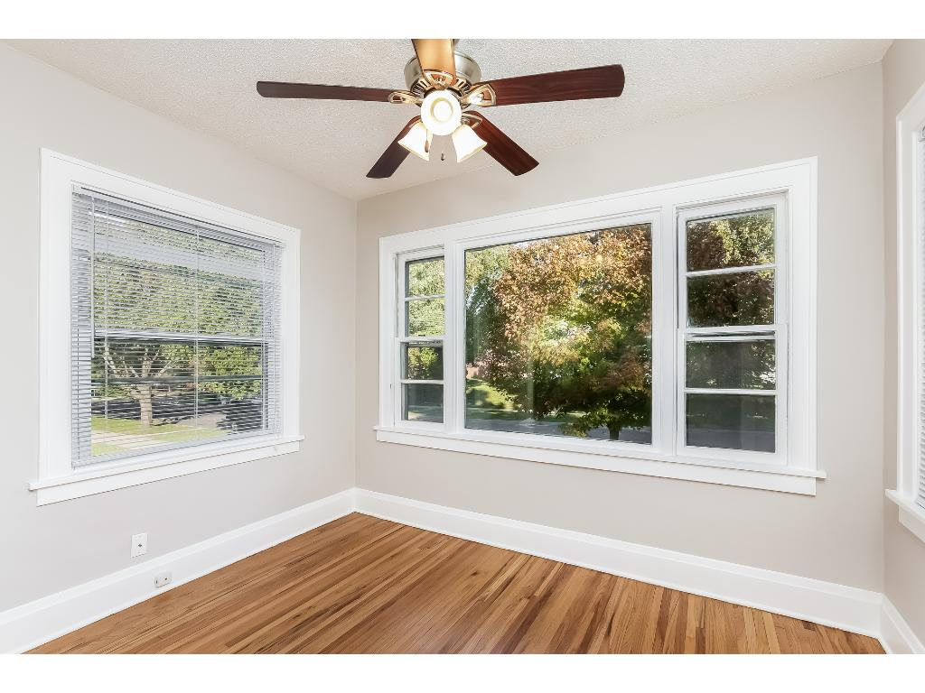 Enjoy your sun room overlooking the front yard