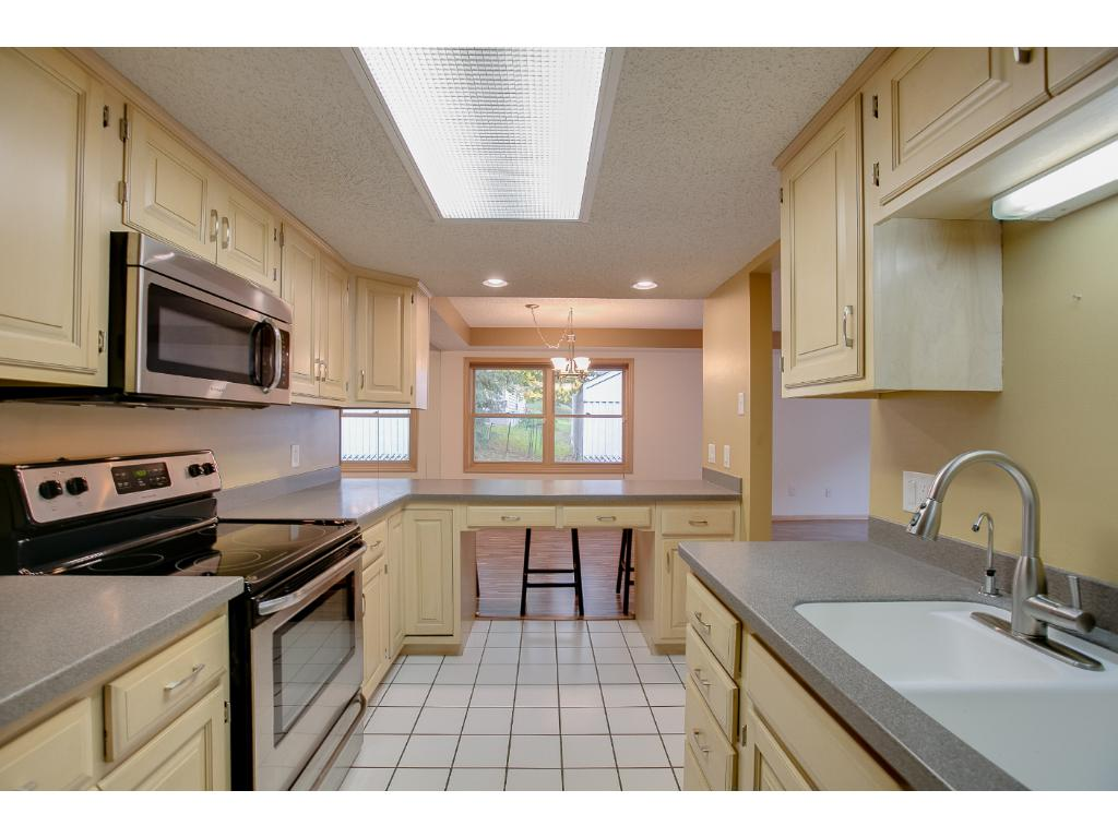You can see the great green space and trees even from the kitchen.