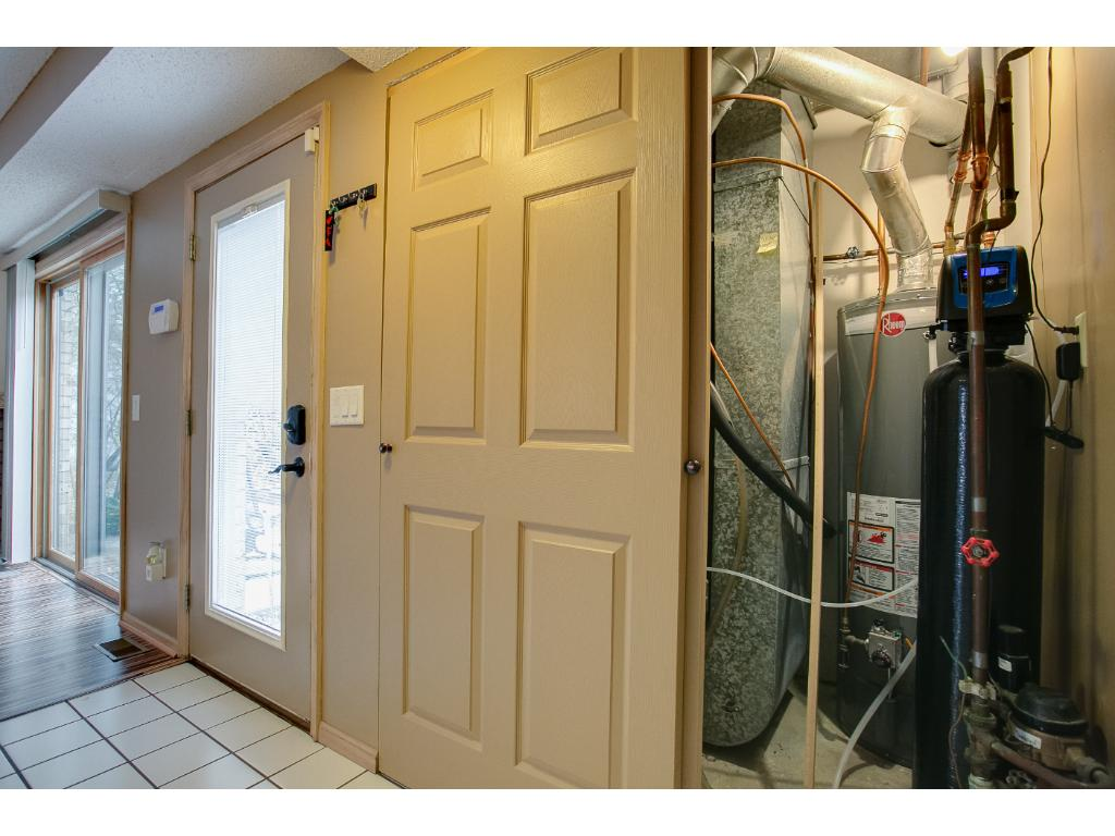 Another view of the foyer, the mechanicals are in this closet.