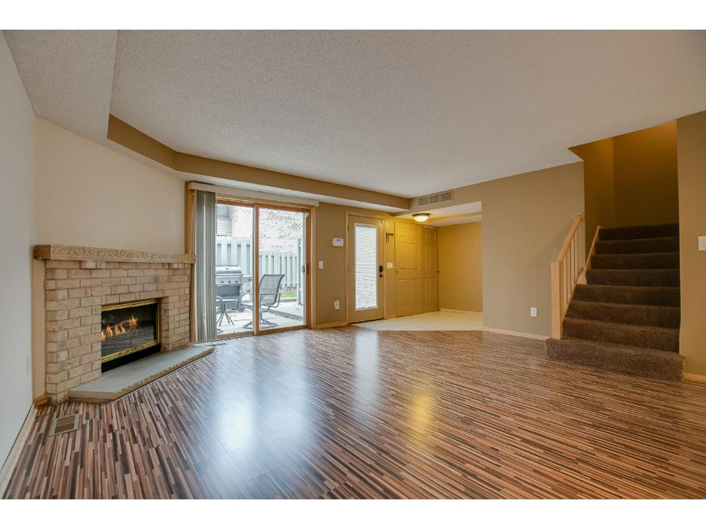 The gorgeous laminate flooring adds to the flow of the lower level.