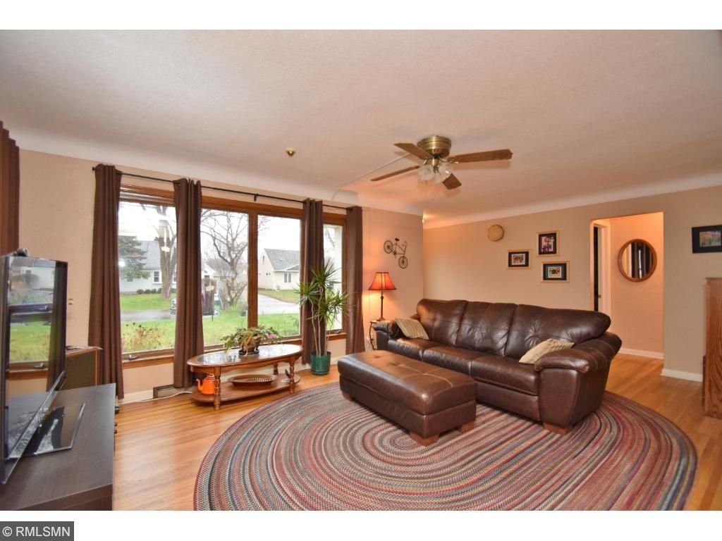 large living room, sharp hardwood oak floors