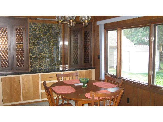 Dining Area with Built in Cabinets.