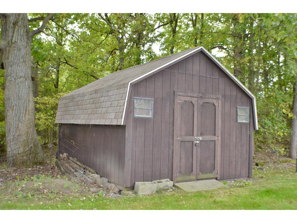 Additional storage shed for all of your mowers, rakes, or trimmers.