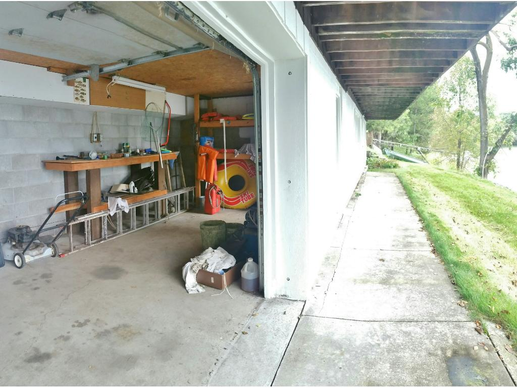 Tuck under lakeside garage is the perfect additional storage area for all your water toys!