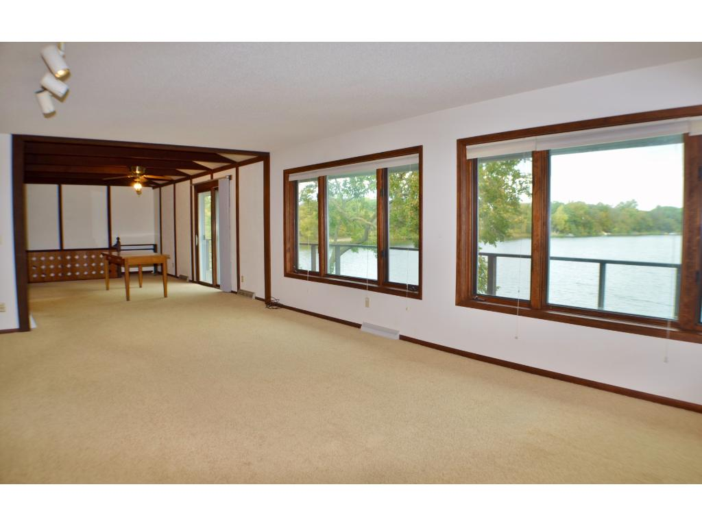 Oversized windows let in expansive views of the lake and lots of natural light!