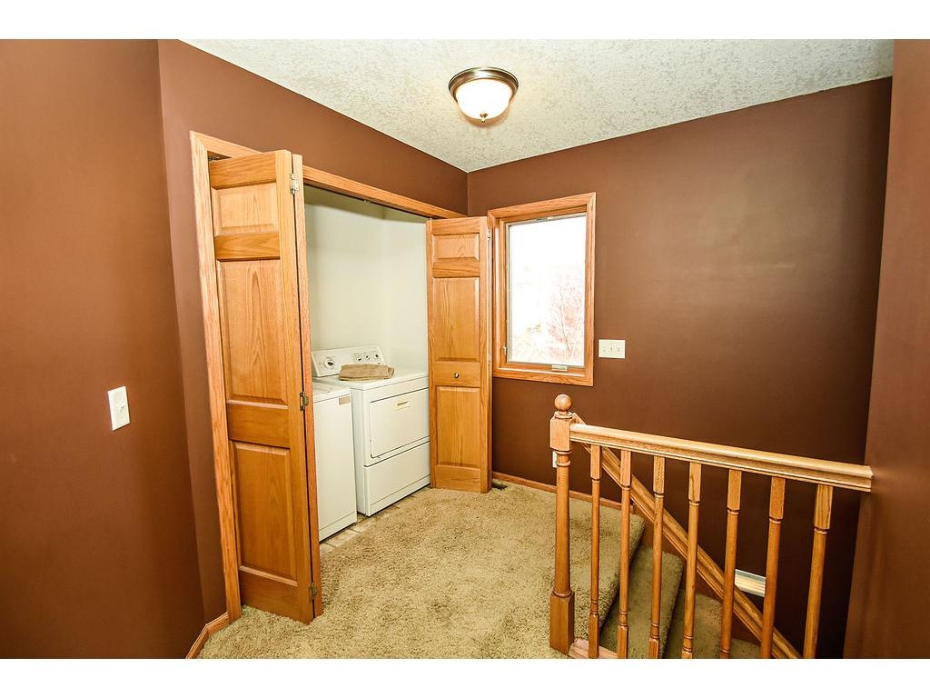 Upper level space for washer and dryer.