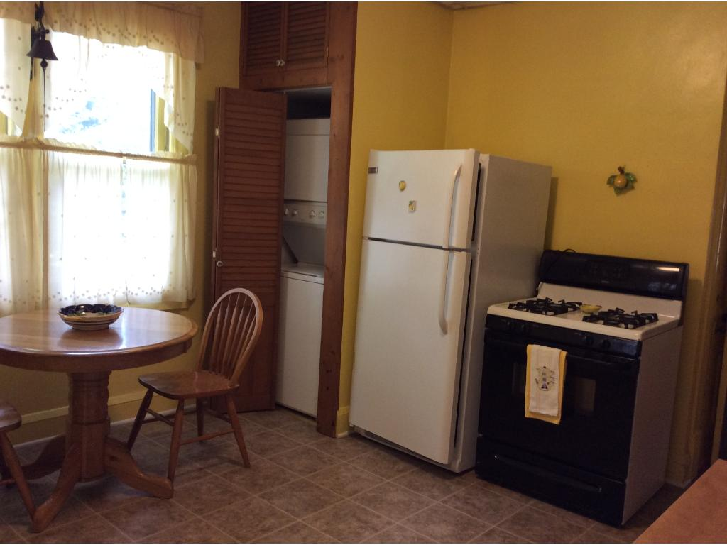 Main level eat in kitchen with laundry available.