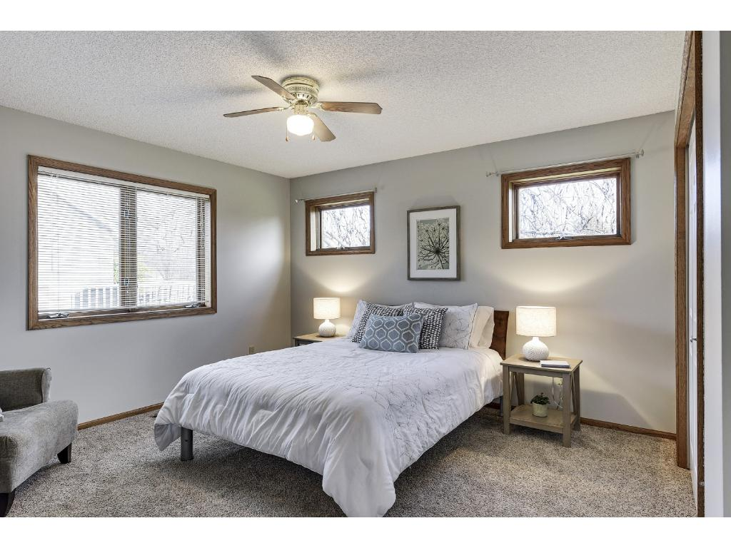 Spacious Master Bedroom with lots of light.