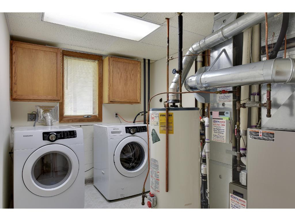 Laundry/Utility room with Energy Efficient SAMSUNG Washer and Dryer! Mechanicals are ALL new in the last three years, all high end!